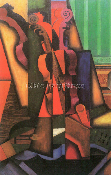 JUAN GRIS VIOLIN AND GUITAR ARTIST PAINTING REPRODUCTION HANDMADE OIL CANVAS ART