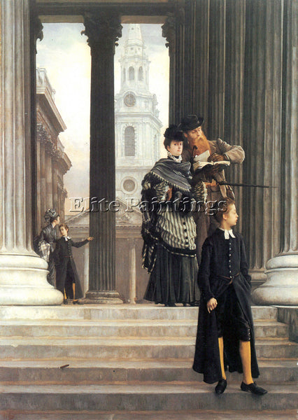 TISSOT VISITORS IN LONDON ARTIST PAINTING REPRODUCTION HANDMADE OIL CANVAS REPRO
