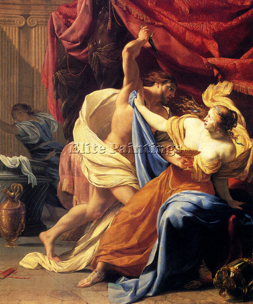 VOUET SIMON LUCRETIA AND TARQUIN ARTIST PAINTING REPRODUCTION HANDMADE OIL REPRO
