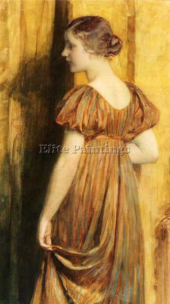 WAAY NICOLAAS VAN DER AN ELEGANT LADY ARTIST PAINTING REPRODUCTION HANDMADE OIL