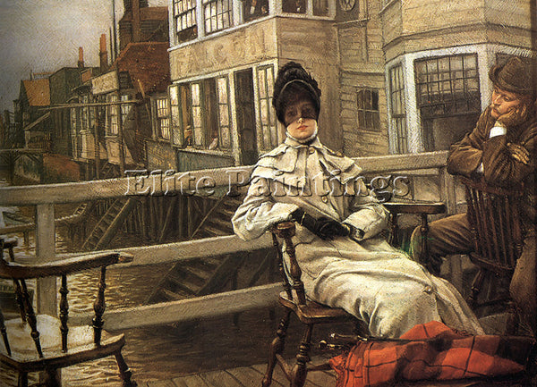 JAMES JACQUES-JOSEPH TISSOT WAITING FOR THE FERRY 2 ARTIST PAINTING REPRODUCTION