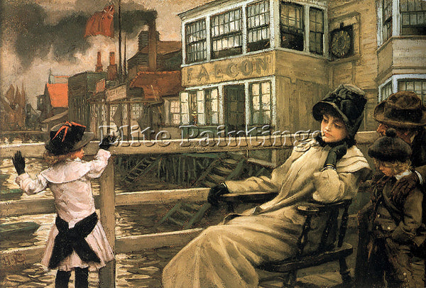 JAMES JACQUES-JOSEPH TISSOT WAITING FOR THE FERRY ARTIST PAINTING REPRODUCTION