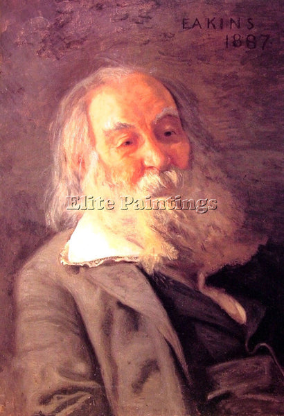 THOMAS EAKINS WALT WHITMAN ARTIST PAINTING REPRODUCTION HANDMADE OIL CANVAS DECO