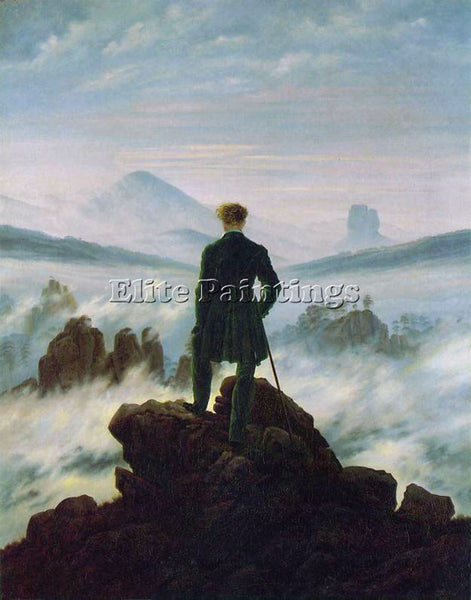 CASPAR DAVID FRIEDRICH WANDERER ABOVE THE SEA OF FOG HSE ARTIST PAINTING CANVAS