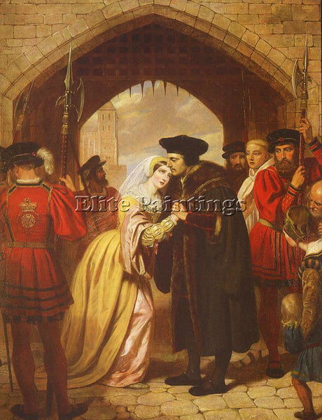 BRITISH WARD EDWARD MATTHEW ENGLISH 1816 1879 ARTIST PAINTING REPRODUCTION OIL
