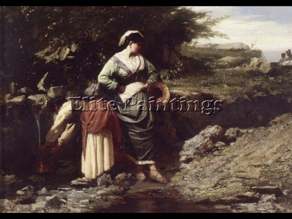 JULES BRETON WATER CARRIERS ARTIST PAINTING REPRODUCTION HANDMADE OIL CANVAS ART