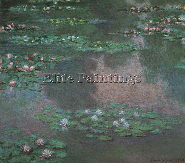 CLAUDE MONET WATER LILIES I ARTIST PAINTING REPRODUCTION HANDMADE OIL CANVAS ART