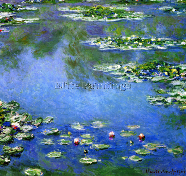 MONET WATER LILIES ARTIST PAINTING REPRODUCTION HANDMADE CANVAS REPRO WALL DECO