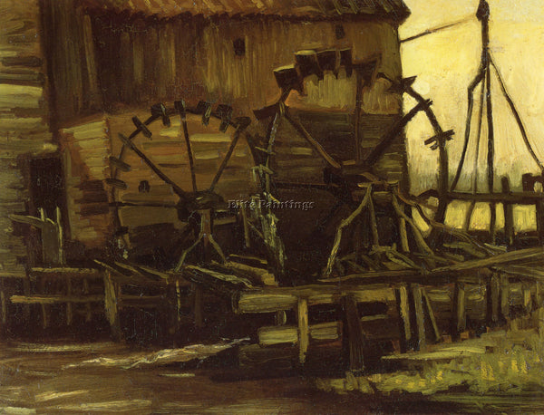 VAN GOGH WATERWHEELS ARTIST PAINTING REPRODUCTION HANDMADE OIL CANVAS REPRO WALL