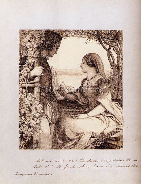 BRITISH WATSON JOHN DAWSON THE PRINCESS TENNYSON ARTIST PAINTING HANDMADE CANVAS
