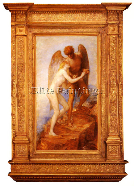 WATTS GEORGE FREDERICK LOVE AND LIFE ARTIST PAINTING REPRODUCTION HANDMADE OIL