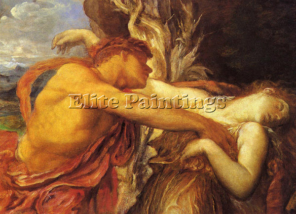 WATTS GEORGE FREDERICK ORPHEUS AND EURYDICE ARTIST PAINTING HANDMADE OIL CANVAS