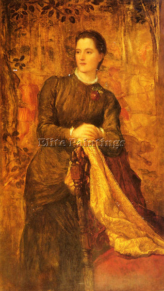 WATTS GEORGE FREDERICK THE HONOURABLE MARY BARING ARTIST PAINTING REPRODUCTION