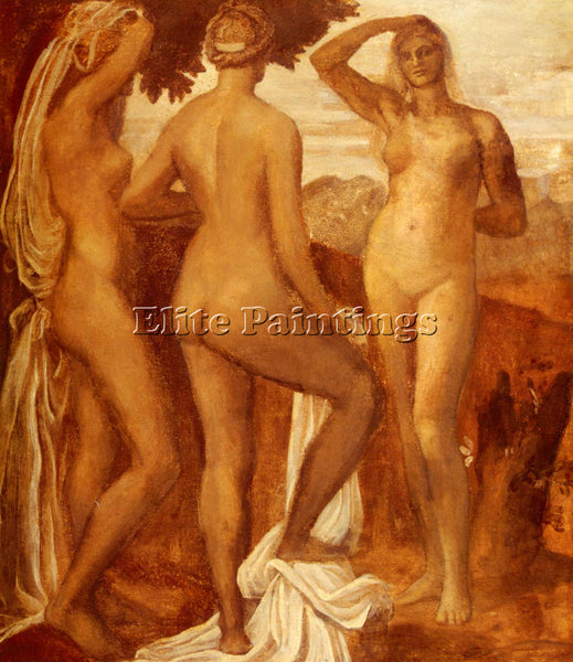 WATTS GEORGE FREDERICK THE JUDGEMENT OF PARIS ARTIST PAINTING REPRODUCTION OIL