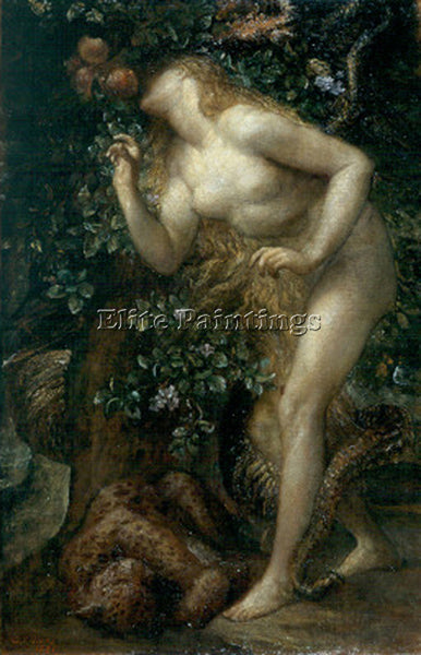 WATTS GEORGE FREDERICK  EVE TEMPTED ARTIST PAINTING REPRODUCTION HANDMADE OIL