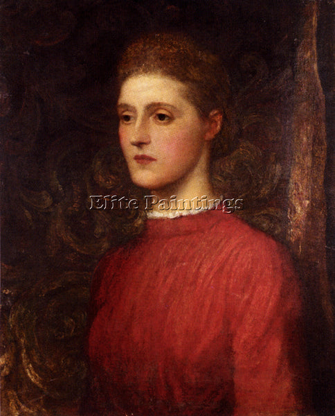 WATTS GEORGE FREDERICK  PORTRAIT OF A LADY ARTIST PAINTING REPRODUCTION HANDMADE