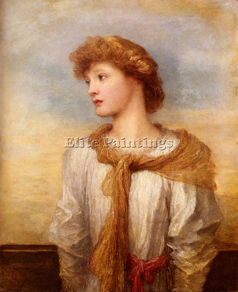 WATTS GEORGE FREDERICK  PORTRAIT OF MISS LILIAN MACINTOSH ARTIST PAINTING CANVAS