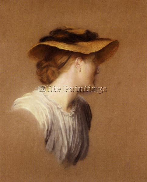 WATTS GEORGE FREDERICK  PORTRAIT OF THE ARTISTS WIFE MARY ARTIST PAINTING CANVAS