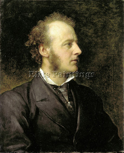 WATTS GEORGE FREDERICK  PORTRAIT OF SIR JOHN EVERETT MILLAIS 1871 ARTIST CANVAS