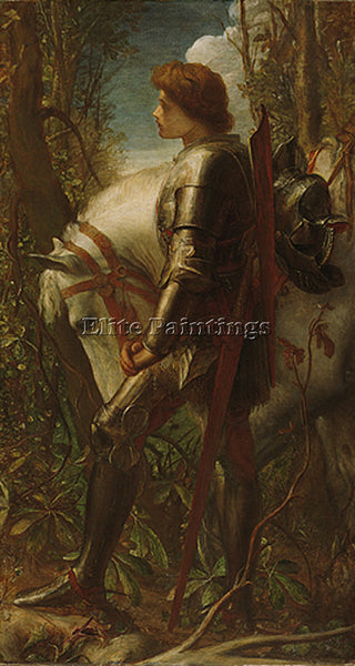 WATTS GEORGE FREDERICK  SIR GALAHAD 1862 ARTIST PAINTING REPRODUCTION HANDMADE