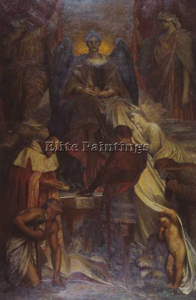 WATTS GEORGE FREDERICK  THE COURT OF DEATH C1870 1902 ARTIST PAINTING HANDMADE