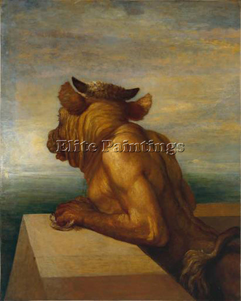 WATTS GEORGE FREDERICK  THE MINOTAUR 1885 ARTIST PAINTING REPRODUCTION HANDMADE