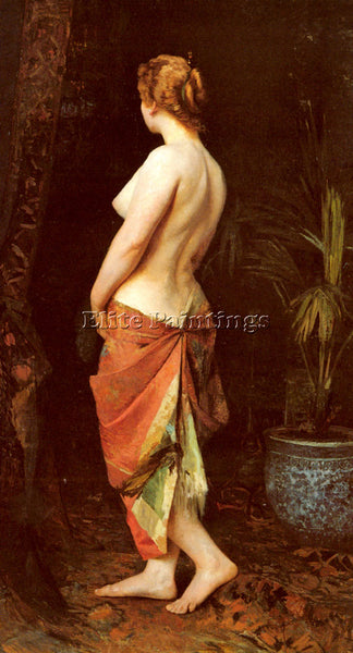 BELGIAN WAUTERS CAMILLE STANDING NUDE ARTIST PAINTING REPRODUCTION HANDMADE OIL