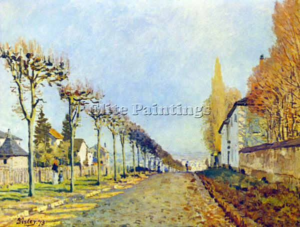 ALFRED SISLEY WAY OF THE MACHINE AT LOUVECIENNES ARTIST PAINTING HANDMADE CANVAS