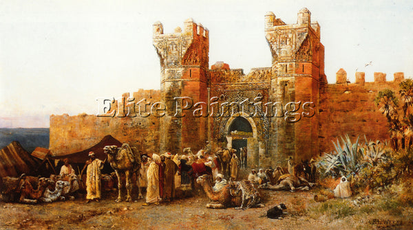 EDWIN LORD-WEEKS GATE OF SHEHAL MOROCCO ARTIST PAINTING REPRODUCTION HANDMADE