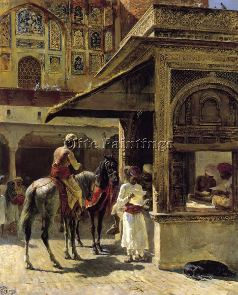EDWIN LORD-WEEKS HINDU MERCHANTS ARTIST PAINTING REPRODUCTION HANDMADE OIL REPRO