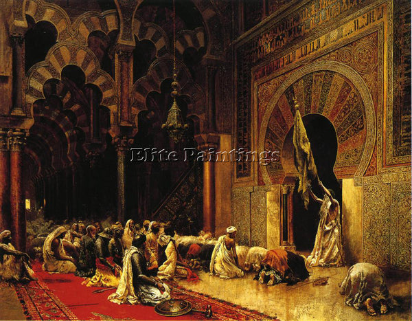 EDWIN LORD-WEEKS INTERIOR OF THE MOSQUE AT CORDOVA ARTIST PAINTING REPRODUCTION