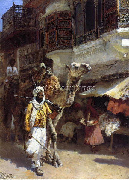 WEEKS EDWIN LORD  MAN LEADING A CAMEL ARTIST PAINTING REPRODUCTION HANDMADE OIL