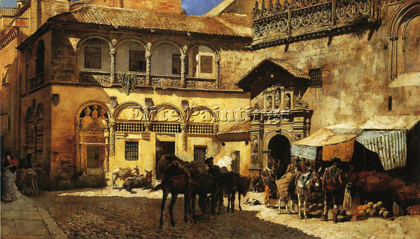LORD-WEEKS MARKET SQUARE IN FRONT SACRISTY AND DOORWAY CATHEDRAL GRANADA ARTIST