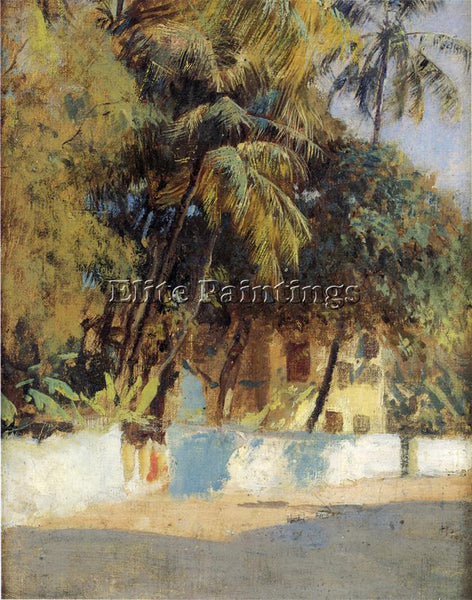 WEEKS EDWIN LORD  STREET SCENE BOMBAY ARTIST PAINTING REPRODUCTION HANDMADE OIL