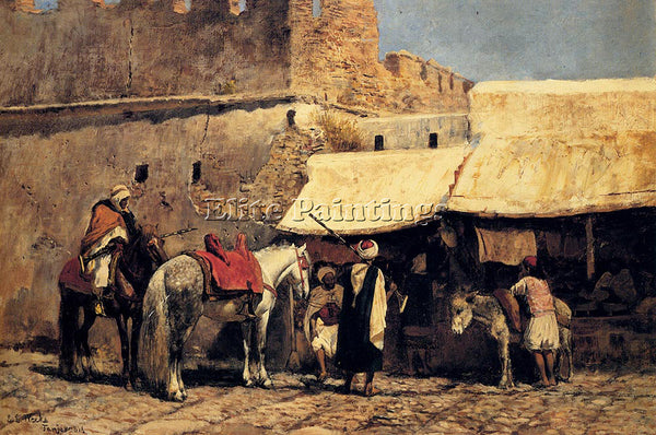 EDWIN LORD-WEEKS TANGIERS ARTIST PAINTING REPRODUCTION HANDMADE OIL CANVAS REPRO