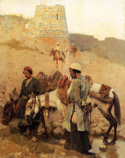 WEEKS EDWIN LORD  TRAVELING IN PERSIA ARTIST PAINTING REPRODUCTION HANDMADE OIL