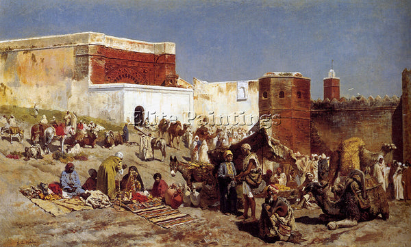 EDWIN LORD-WEEKS MOROCCAN MARKET RABAT ARTIST PAINTING REPRODUCTION HANDMADE OIL