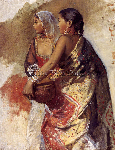EDWIN LORD-WEEKS SKETCH TWO NAUTCH GIRLS ARTIST PAINTING REPRODUCTION HANDMADE