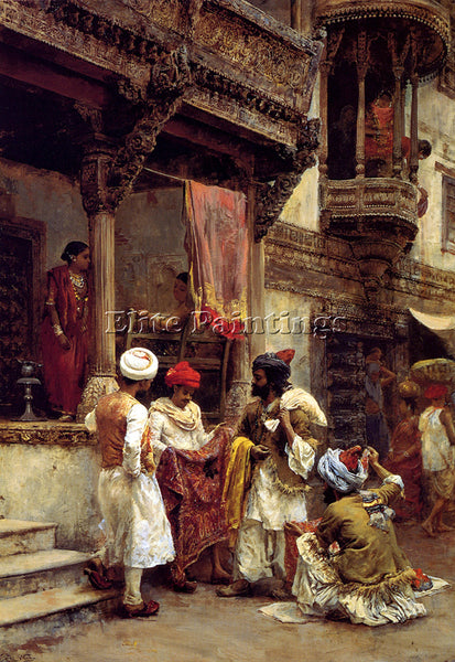 WEEKS EDWIN LORD  THE SILK MERCHANTS ARTIST PAINTING REPRODUCTION HANDMADE OIL