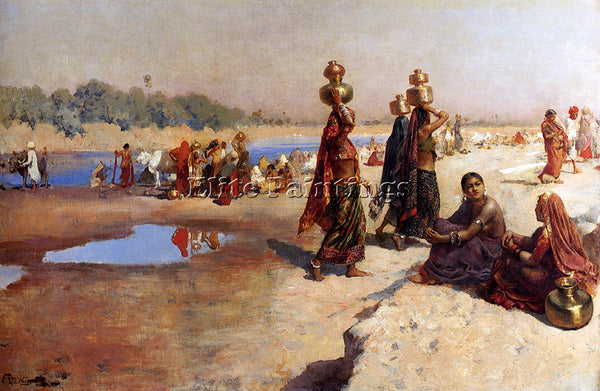 WEEKS EDWIN LORD  WATER CARRIERS OF THE GANGES ARTIST PAINTING REPRODUCTION OIL