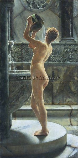 BRITISH WEGUELIN THE BATH ARTIST PAINTING REPRODUCTION HANDMADE OIL CANVAS REPRO