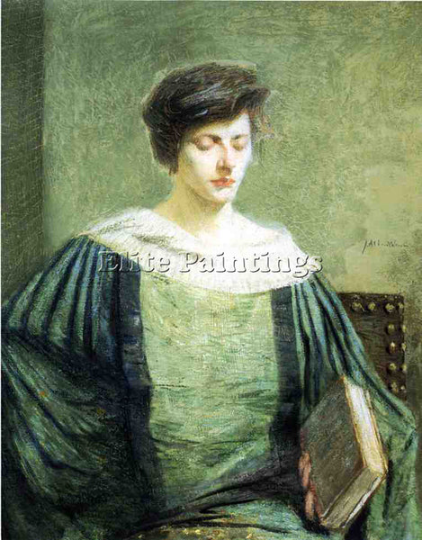 WEIR JULIAN ALDEN A FOLLOWER OF GROLIER ARTIST PAINTING REPRODUCTION HANDMADE