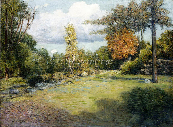 WEIR JULIAN ALDEN AUTUMN DAYS ARTIST PAINTING REPRODUCTION HANDMADE CANVAS REPRO