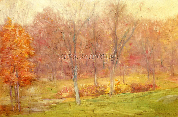 WEIR JULIAN ALDEN AUTUMN RAIN ARTIST PAINTING REPRODUCTION HANDMADE CANVAS REPRO