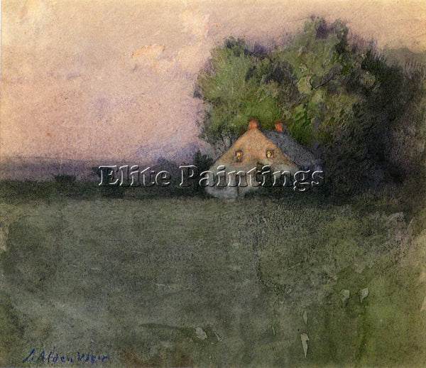 WEIR JULIAN ALDEN BRANCHVILLE CONNECTICUT ARTIST PAINTING REPRODUCTION HANDMADE