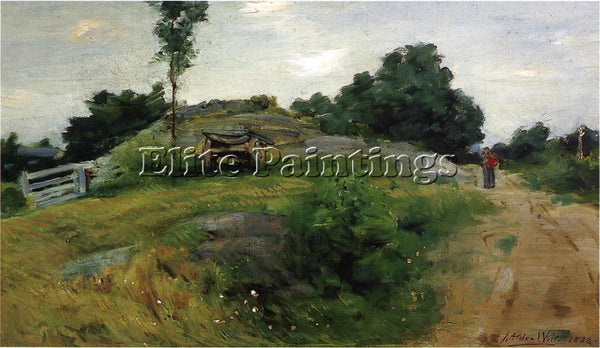 WEIR JULIAN ALDEN CONNECTICUT SCENE AT BRANCHVILLE ARTIST PAINTING REPRODUCTION