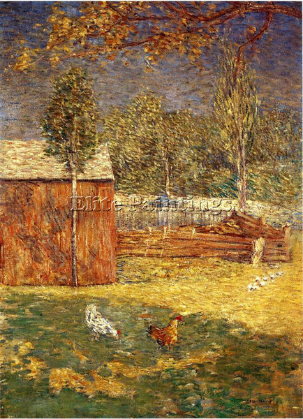 WEIR JULIAN ALDEN MIDDAY ARTIST PAINTING REPRODUCTION HANDMADE CANVAS REPRO WALL