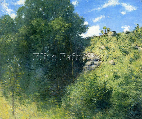 WEIR JULIAN ALDEN RAVINE NEAR BRANCHVILLE ARTIST PAINTING REPRODUCTION HANDMADE