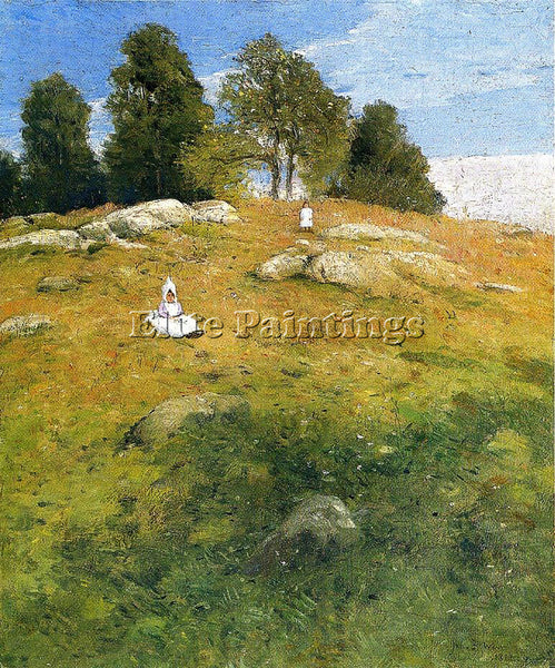 WEIR JULIAN ALDEN SUMMER AFTERNOON SHINNECOCK LANDSCAPE ARTIST PAINTING HANDMADE
