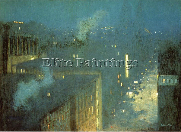 WEIR JULIAN ALDEN THE BRIDGE NOCTURNE AKA NOCTURNE QUEENSBORO BRIDGE OIL CANVAS